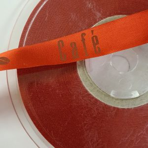 Red Cafe Ribbon 50m x 15mm | Haberdashery | In2SewingMachines