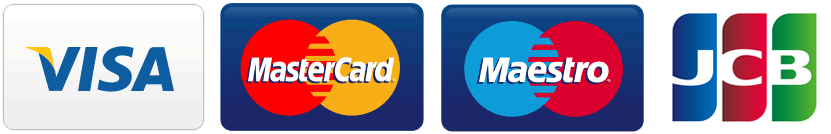 We accept payments via credit card: Visa, Mastercard, Maestro and JCB