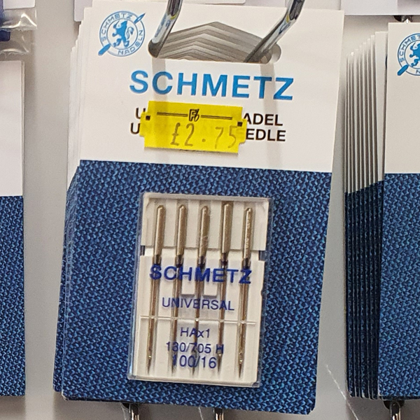 in2sewingmachines | Industrial and Domestic Sewing Machines & Accessories | Haberdashery | Shmetz Universal Needle 100/16