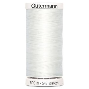 in2sewingmachines | Industrial and Domestic Sewing Machines & Accessories | Haberdashery | Gütermann Sew All Thread - White - 500m